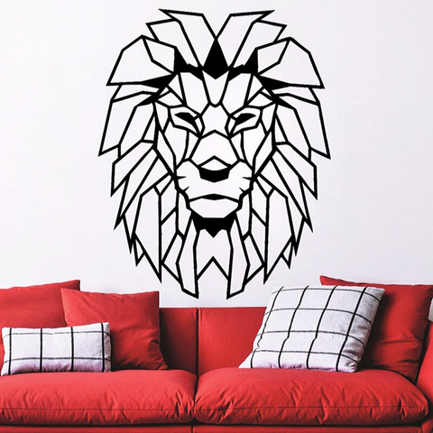 Sticker mural lion.