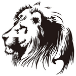 Sticker lion noir.
