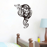 Sticker deco lion noir.