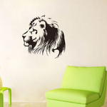 sticker lion de profil.