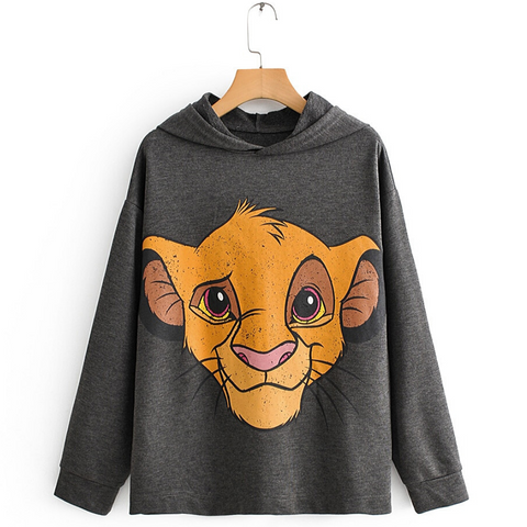 Sweat le roi lion oversized.