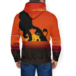 Sweat le roi lion disney en couleur.
