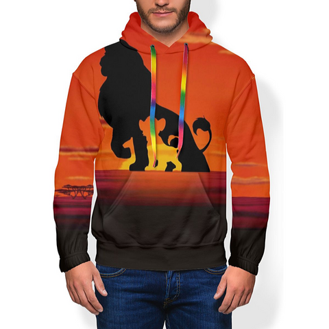 Sweat le roi lion a capuche disney.