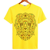 Tee-shirt tete de lion.