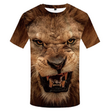 T shirt tête de lion.
