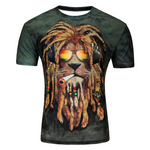 T-shirt lion rasta.