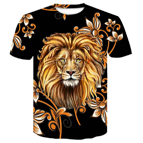T-shirt tete de lion.