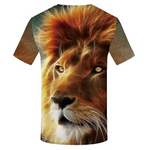 T-shirt tête de lion.