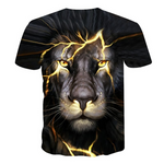 T-short tete de lion noir.