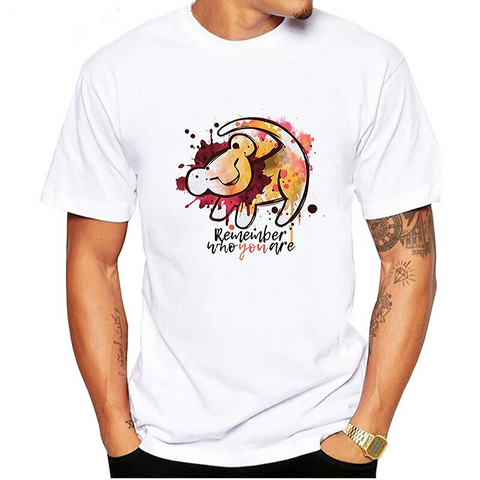 T-shirt roi lion remember who you are.