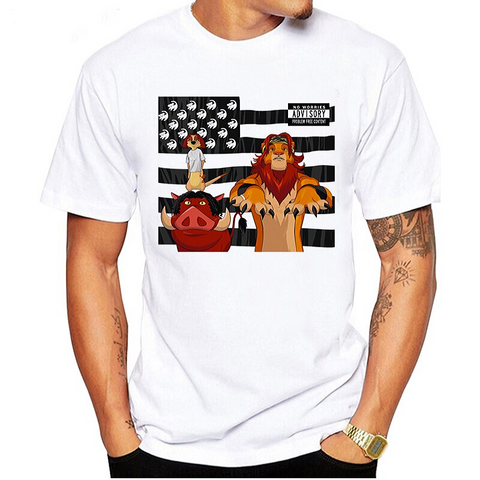 T-Shirt Roi Lion Homme American photo