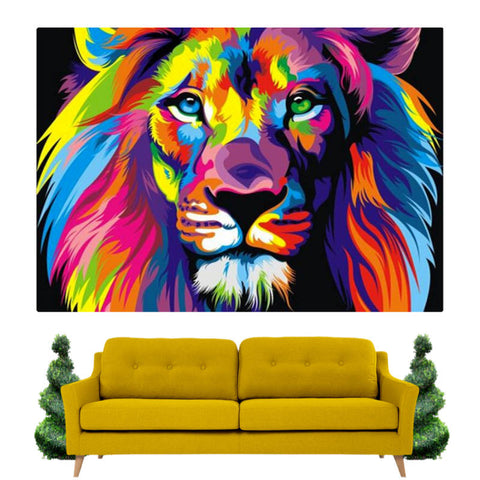 Tableau Lion Pop Art | Lion Royaume