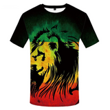 T-shirt lion jamaique.