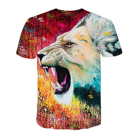 Tee-shirt lion homme Neo Two.