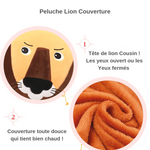 Description peluche lion couverture