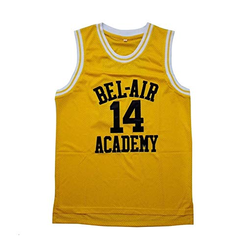 Will Smith #14 Bel Air Academy Yellow Basketball Jersey