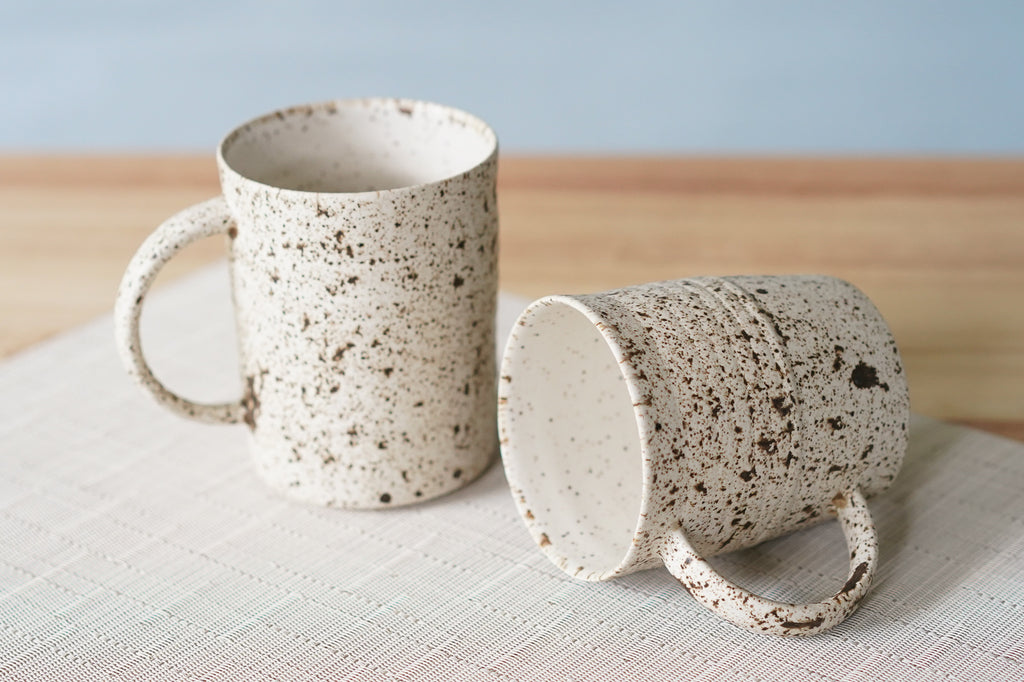 Freckled Traveler Mugs (2 for $85)