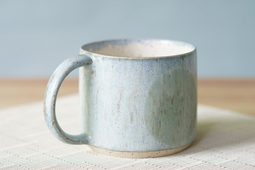 Circle Mug in Periwinkle / Green ~ 12oz