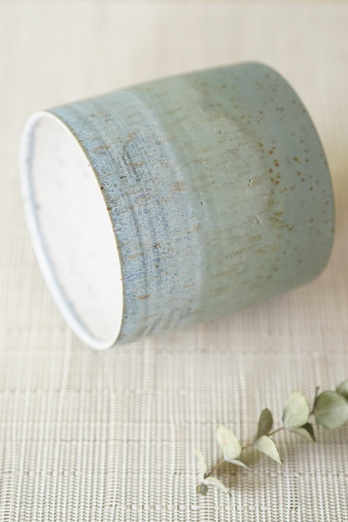 Blue & Green Satin Everything Cup