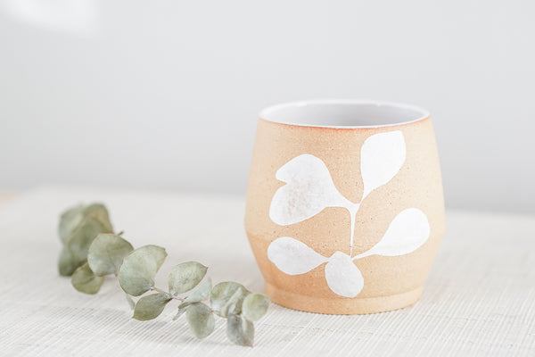 Everything Cup in Modern White Floral Design