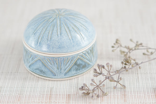 Small Lidded Jar in Bluebell