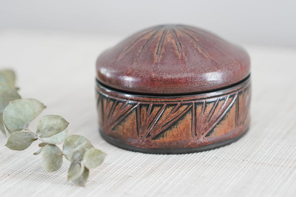 Small Lidded Jar in Ancient Copper