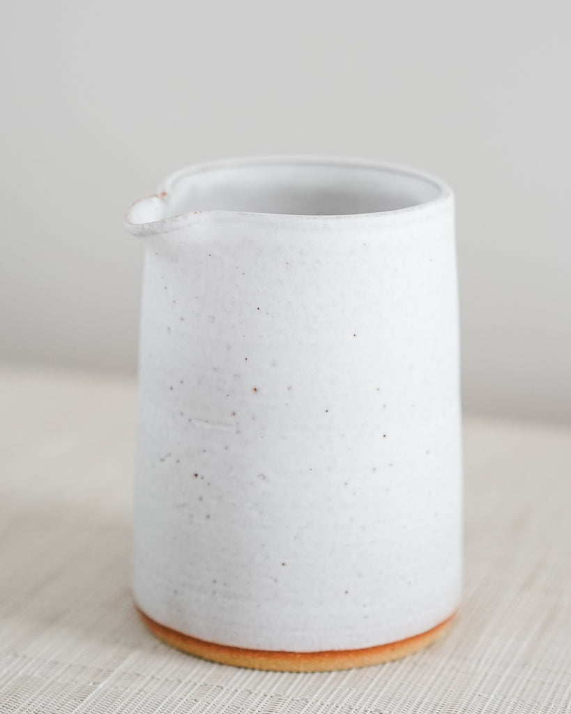 Rustic White Pitcher