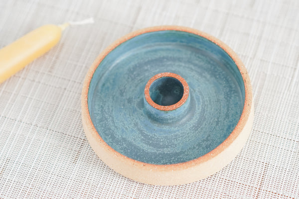 Taper Candle Holder in Soft Satin Blue #9