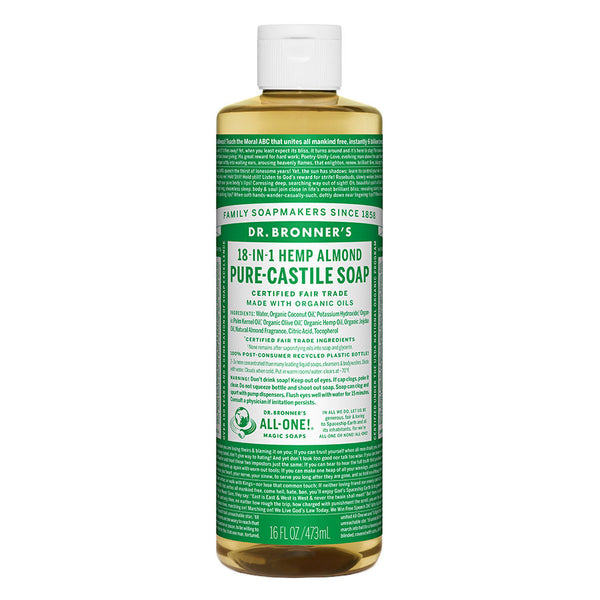 Dr. Bronner's 18-in-1 Almond Castile Soap 16 oz