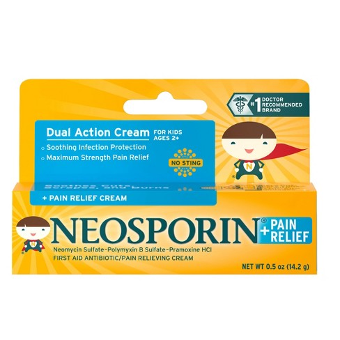 Neosporin Antibiotic and Pain Relieving Cream for Children - 0.5 oz