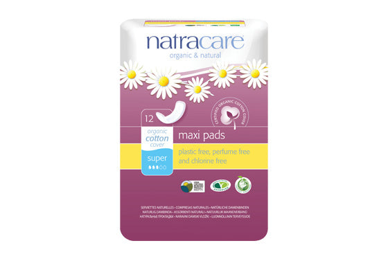 NatraCare Maxi Pads - 12 ct
