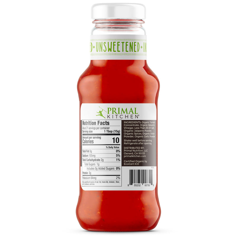 Spicy Organic Unsweetened Ketchup