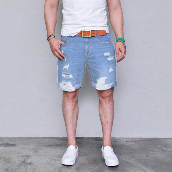 Men's Ripped Loose And Comfortable Shorts