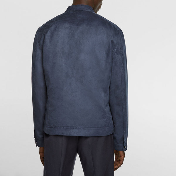 Suede Stand Collar Jacket
