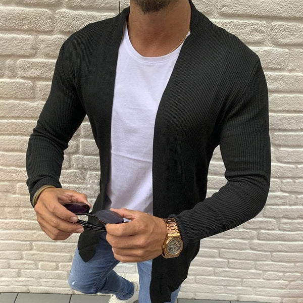 Men's Cardigan Long Sleeve Jacket