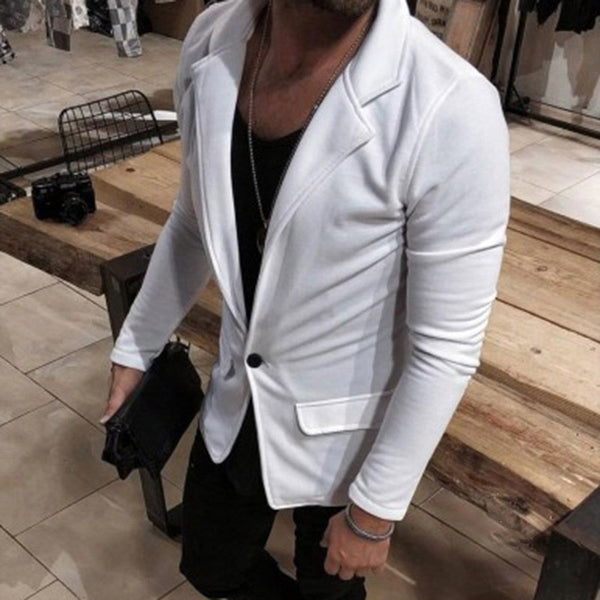 Solid Color Casual Gentleman Blazer