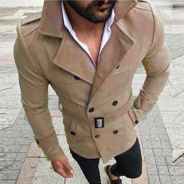 Lapel Double-breasted Casual Trench Coat
