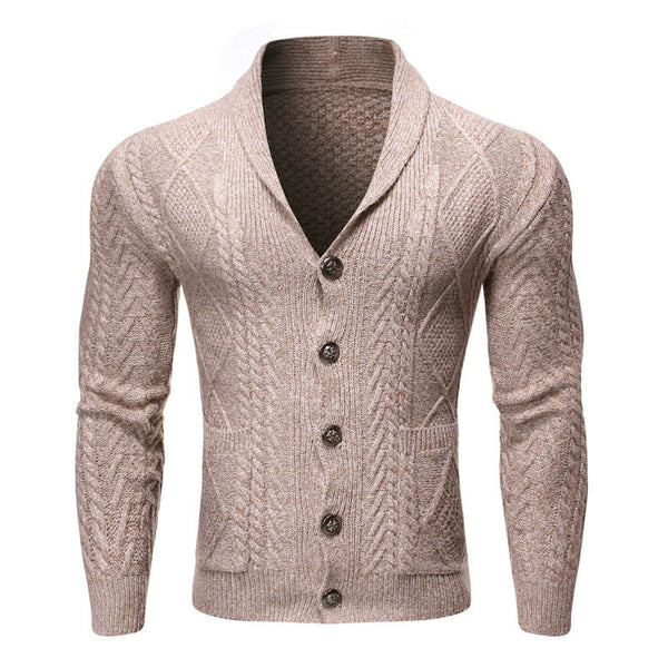 Solid Color Men's Sweater Sweater Coat