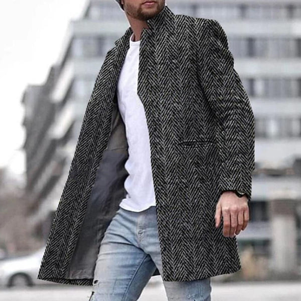 Men's Herringbone Tweed Windbreaker