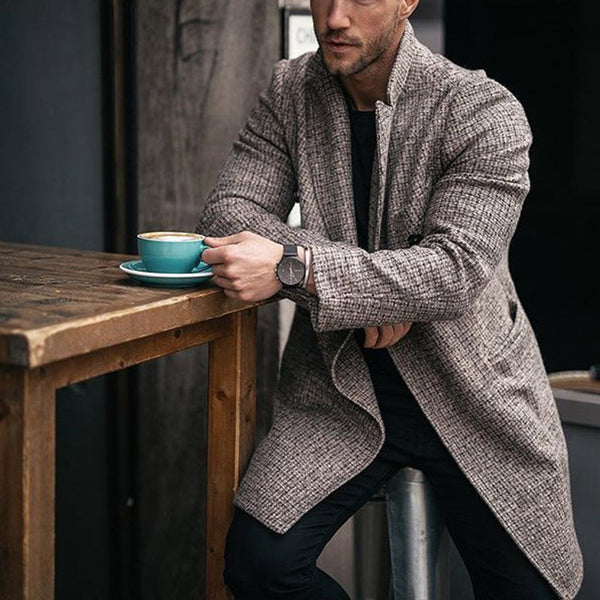 Long-sleeved Casual Jacket For Men's Wear