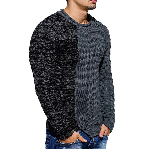 Men's Low Round Collar Sweater
