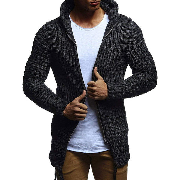 Men's Solid Color Hooded Sweater