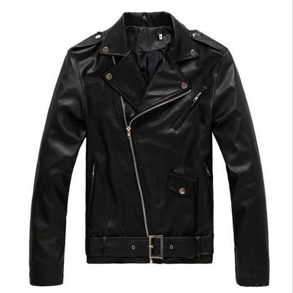 Men's Leather Jacket Slim Jacket