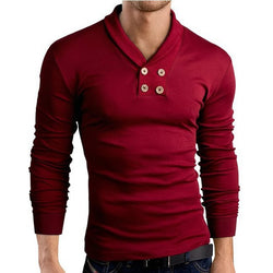 Small Lapel Casual Men's T-shirt