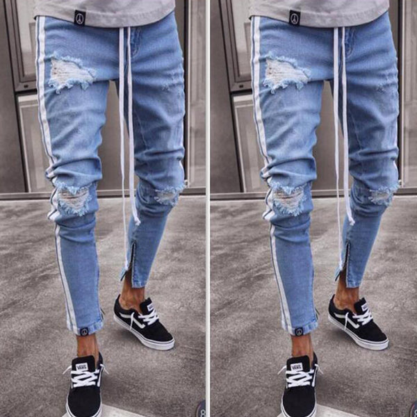 Small Feet Jeans Webbing Trousers Zipper Jeans