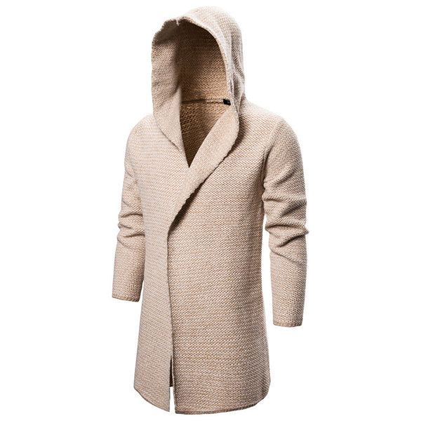 Men's Hooded Cardigan Sweater Coat