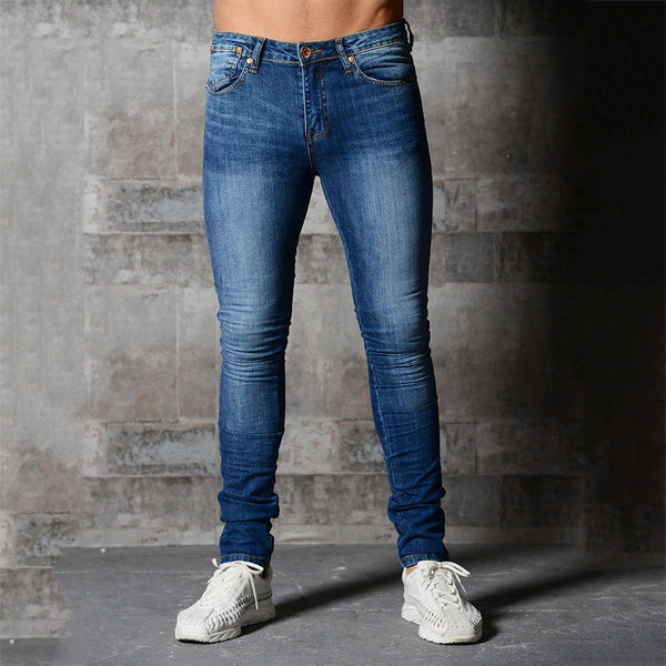 Tight-Fashioned Solid Color Denim Pants