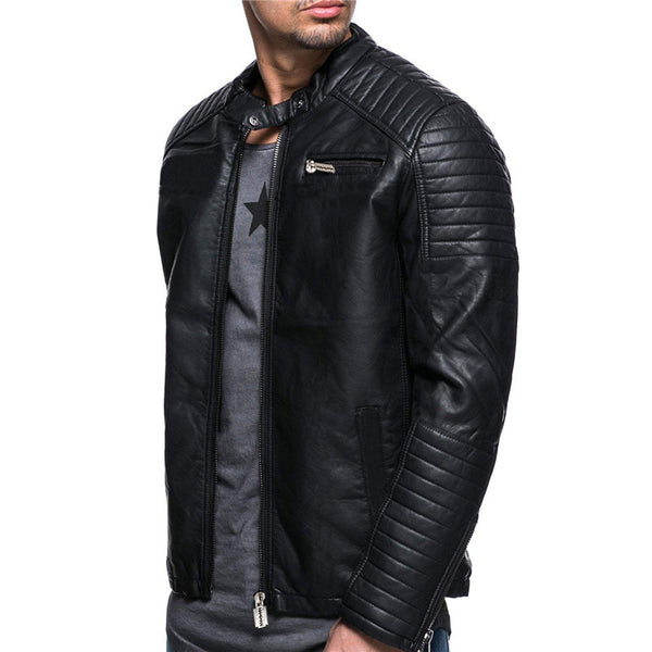 Personalized Windproof Men's Leather Jacket