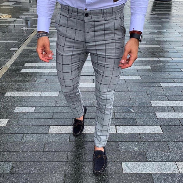 Men's Plaid Printed Pants