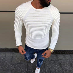 Splicing Crew Neck Long Sleeve Sweater